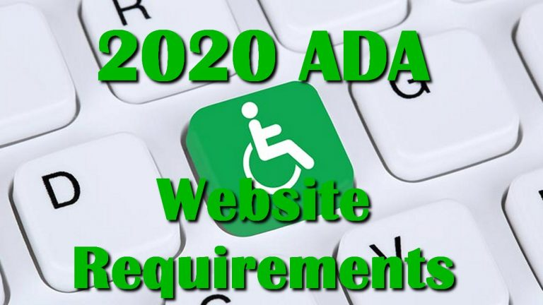 2020 ADA Website Requirements